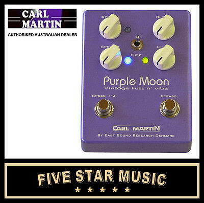 Carl Martinpurple Moon Vintage Fuzz & Vibe Guitar Effects Drive Pedal - New