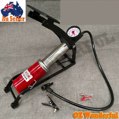 Foot Air Pump with Pressure Gauge Tyre Tire Inflater Inflator Air Bed Bike Ball