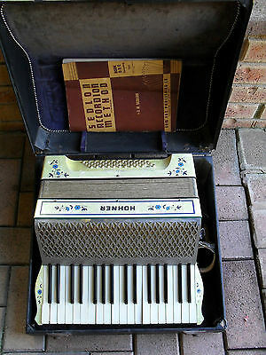 Stunning Original Vintage Pearl Hohner  -  Piano Accordion