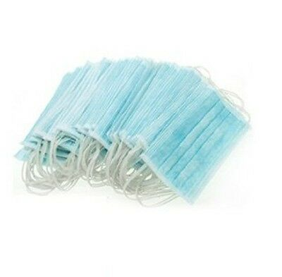 50 x Blue Premium Disposable Ear Loop Face Mask,Surgical Salon Dust Cleaning Flu