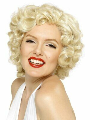 Blonde Marilyn Monroe Wig Adult Womens Smiffys Fancy Dress Costume