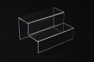 2 Tier Display Plinth Riser Collectables Trophies Models Jewellery Retail Stand
