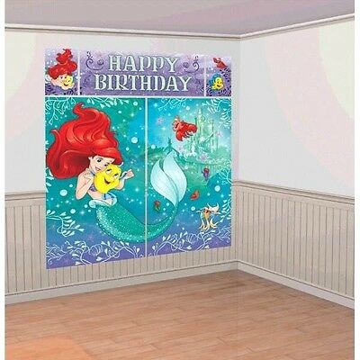 Little Mermaid Ariel Scene Setter Birthday Party Wall Banner Decoration Backdrop