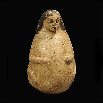 "Ancient Greek Pregnant Female ""Plastic"" Pottery Vase"