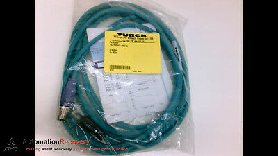 Turck Rscd Rj45 4421-5M/c1195 , Cordset 4P Male St To Ethernet End 5M, New