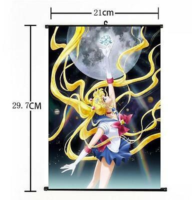 New Hot Japan Anime Sexy Sailor Moon Home Decor Poster Wall Scroll 21*30CM a