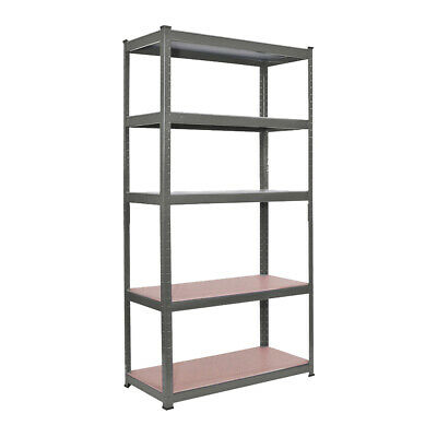 5 Tier Rack Garage Shelving Shelves Racking Metal Shelves Heavy Duty Storage