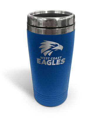 West Coast Eagles AFL TRAVEL Coffee Mug Cup Double Wall Stainless Steel Gift