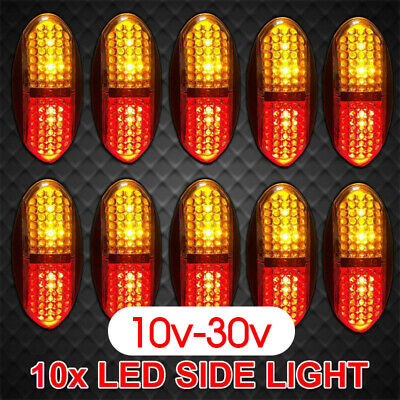 10X 12V 24V Side Marker DC Amber Clearance Lights Indicators LED Trailer Truck