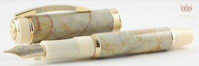 Visconti Le Millionaire Marble Empire Honey Fountain/roller Ball Pen Convertible