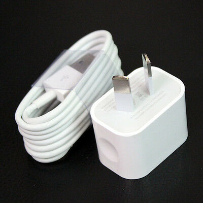 Genuine Apple iPhone AC Wall Charger, USB Cable for 6,5,5s,iPad mini