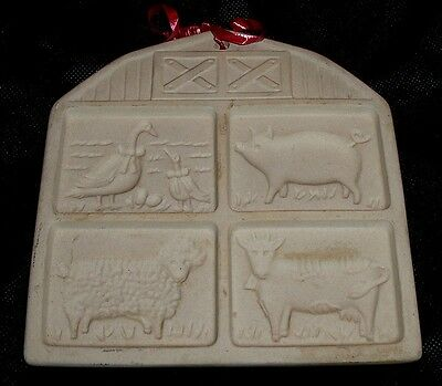 Farmyard Friends Pampered Chef 1994 Cookie Stamp Mold Geese Pig Sheep Cow