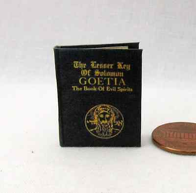 THE KEY OF SOLOMON MEDIEVAL GRIMOIRE Miniature Spell Book Dollhouse 1:12 Scale