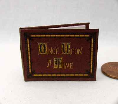 ONCE UPON A TIME BOOK OF FAIRY TALES Miniature Book Dollhouse 1:12 Scale Book