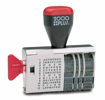 2000 Plus Dial-N-Stamp Date Rubber Stamp, Phrase Dater Years: 2016-2021