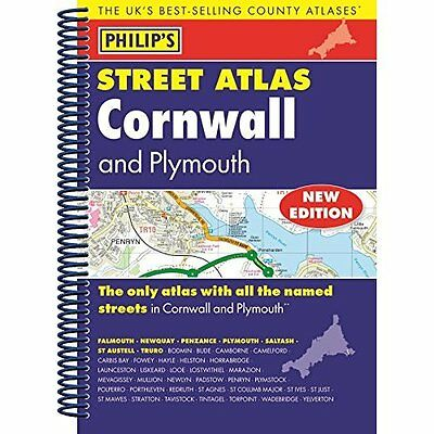 Philip's Street Atlas Cornwall and Plymouth Philip's Spiral bound 9781849073646