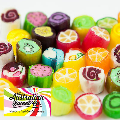 500g Rock Candy Fruit Assorted boiled bulk lollies - Wedding Favours Party