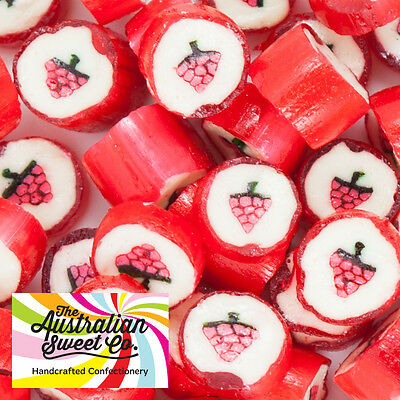 1kg Strawberry Rock Candy boiled bulk lollies - Wedding Favours Party