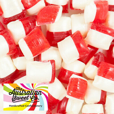 500g Strawberry & Cream Rock Candy boiled bulk lollies - Wedding Favours Party