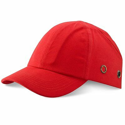 RED Safety Baseball Cap Bump Hard Hat Lightweight Head Protection