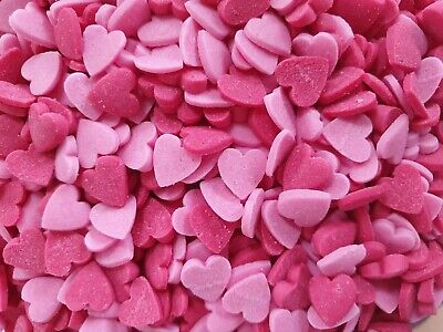 Mini Red & Pink Heart Sprinkles-30g Wedding/Valentines Cupcakes/Cake