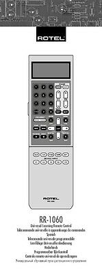 Rotel RR-1060 Remote Control Owners Manual