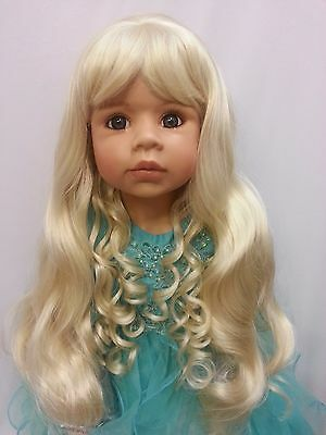 "NWT Monique Susanna Pale Blonde Doll Wig 17-18"" fits Masterpiece Doll(WIG ONLY)"