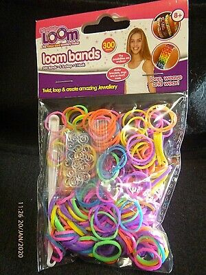 LOOM BANDS 300 ULTRA  BRIGHT COLOURS 12 S HOOKS Latex free