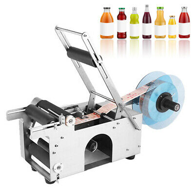 Mt-50 Semi-Automatic Round Bottle Printing Labeling Machine Labeler Popular