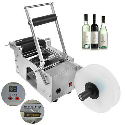 Mt-50 Semi-Automatic Round Bottle Labeler Labeling Machine Ce Certificated