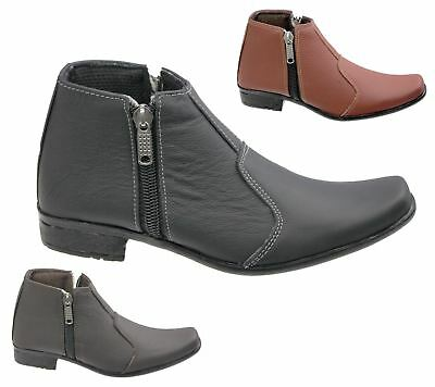 Mens Shoes Zipped Ankle Boots Chelesa Work Office Formal Fashion Shoes Size