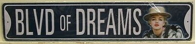 BLVD of DREAMS street style metal sign Marilyn Monroe model actress movie