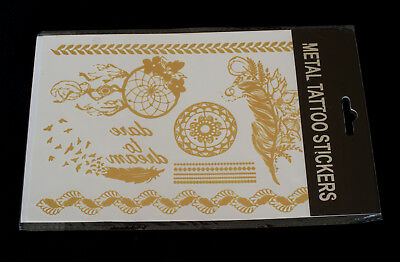Tatuaggi Temporanei Metallici-Metallic Temporary Tattoos-15x24 cm-Body Art