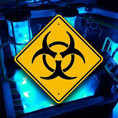 "Large Biohazard Warning Sign    /    16"" X 16"" Aluminum  Zombie Hunting"
