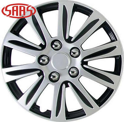 "SAAS Genuine 15"" Inch Set of 4 Wheel Covers Dart Two Tone NEW"