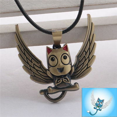 New Anime FairyTail Happy Pendant Necklace Alloy Good  Cute Gift Collection