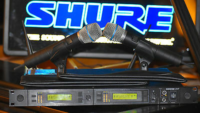 Shure U24D Dual Channel Wireless Handheld Microphone System SM87 UA