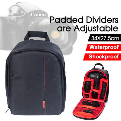 SLR DSLR Camera Bag Backpack Waterproof Shockproof Case For Sony Canon Nikon