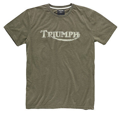 GENUINE Triumph Motorcycles Vintage Logo T-Shirt Blue Red Khaki Grey White NEW