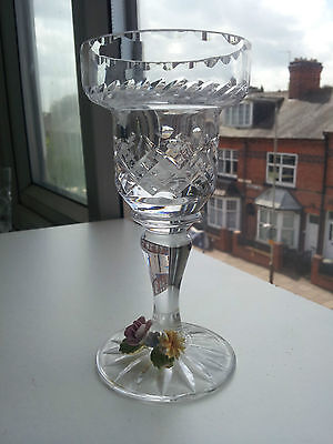 Cut Glass Lovely Crystal Candle Holder
