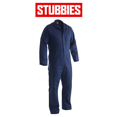 Mens Stubbies Long Sleeve Cotton Drill Overall Coverall Heavy Duty BO0113