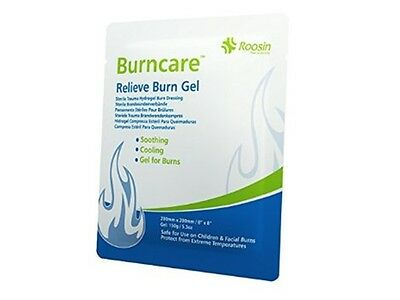 Burns Relief Gel Dressing 20cm x20cm First Aid Cooling Great for Sunburn *OFFER*