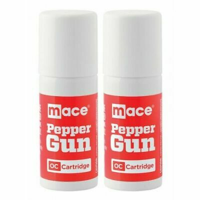 Mace Pepper Gun Refill Cartridges, 2-Pack OC Pepper Spray