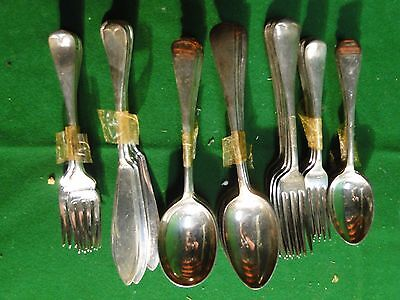 Flatware Silver Plated Antique Old English Marked & Great Quality, English 1890