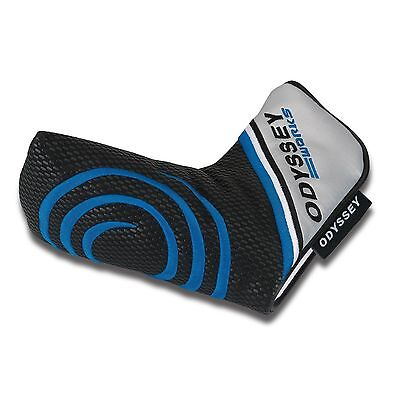 Original ODYSSEY Blue& White WORKS BLADE  MAGNETIC CLOSURE PUTTER HEAD COVER