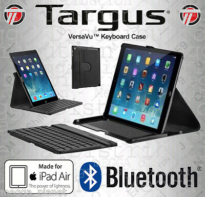 Targus VersaVu *iPad Air 1 + 2* Multi-View Leather Case Stand Bluetooth Keyboard