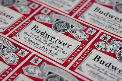 Awesome Vintage 1970's Budweiser Label Themed Plastic 12 inch Beer Tray