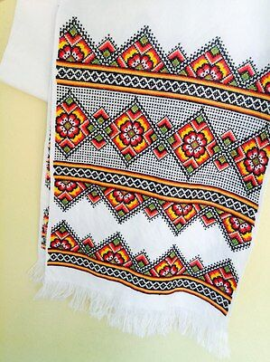 vintage Embroidered Ukrainian rushnik towel folk handmade