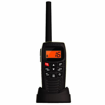 Uniden Mhs115 Submersible W/proof Handheld  5W Vhf Marine Radio That Floats