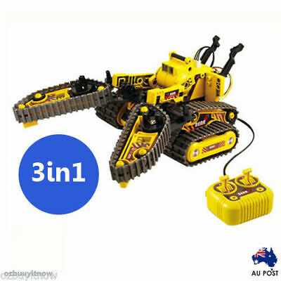 3-in-1 All Terrain Robot Construction Forklift Gripper Electronic Kit Toy AU